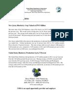 2014 Blueberry Statistics