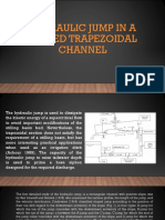 Hydraulic Jump in a Sloped Trapezoidal Cannel