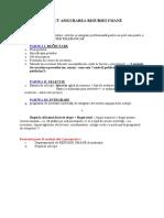 Structura Proiect Asigurarea Resursei Umane