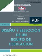 Diseño y Seleccion de Un Equipo de Destilacion