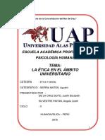 La Etica en El Ambito Universitario Monografia Uap Apa