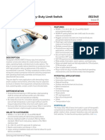 Honeywell Sensing Micro Switch Hdls Limit Product Sheet 002345 8 En