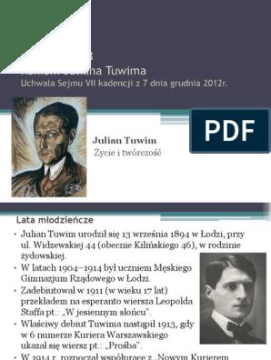 Julian Tuwim Zyciorys