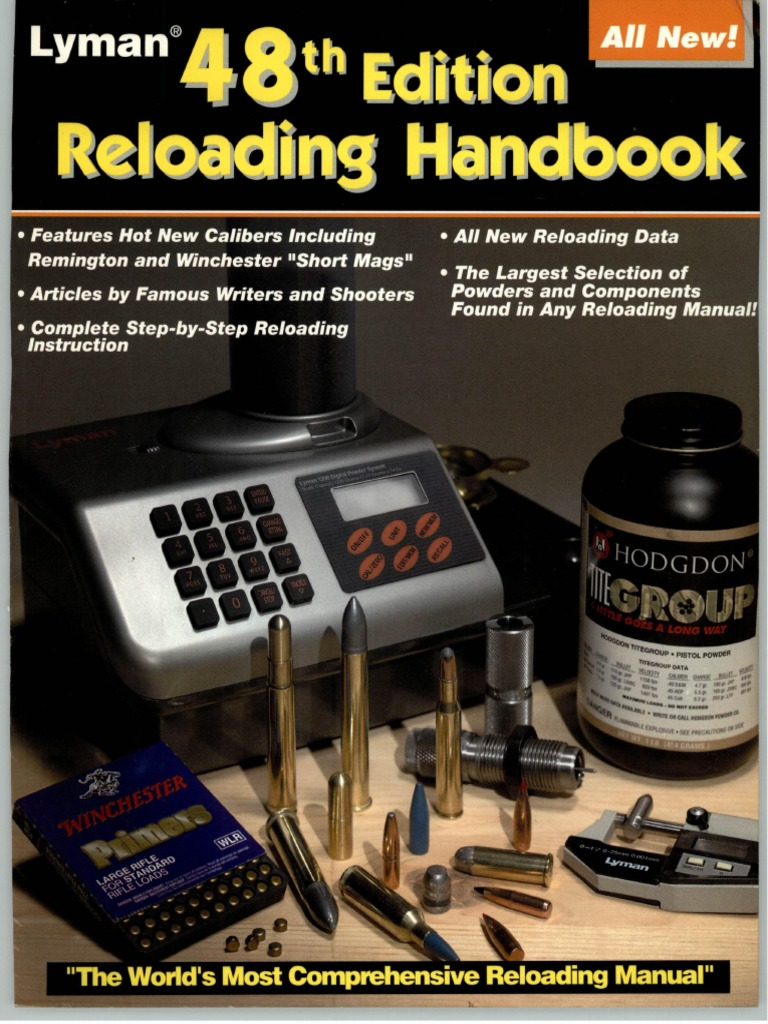 Lyman 48th Reloading Handbook | Cartridge (Firearms) | Firearms