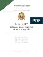 Los Inuit. Sobre Dos Modos Concretos de Hacer Etnografía.