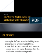 Capacity and Level of Service for Freeway Design(1)
