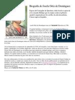 Biografía de Josefa Ortiz de Domínguez