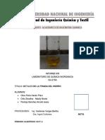 Laboratorio 8 de Inorganica