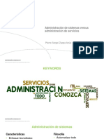 Administración de Servicios vs Administración de Sistemas