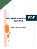 Pauta Investigacion , TESIS generales 2017
