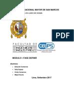 Informe 01 - Definir GRUPO