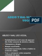 Abuso y Mal Uso Vocal