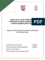 Diseño de Un Reactor UASB Para El Tratamiento de Aguas Residuales de La Industria Papelera