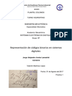 Reporte Practica 1 -Representacion de Codigo Binario