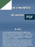 Técnicas e Modelos de Escrita