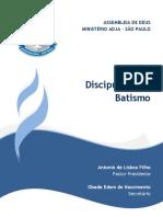 Capa Do Discipulado de Batismo