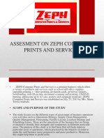 Assesment on Zeph Computer Prints