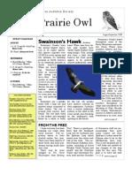August-September 2008 Prairie Owl Newsletter Palouse Audubon Society