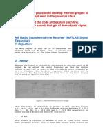 AM Radio Superhetrodryne Receiver