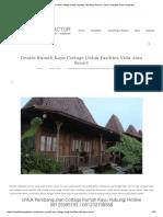 Desain Rumah Kayu Cottage