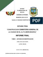 Estudio de Identificacion Cementerio Mercedario