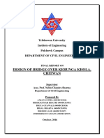 Final Report. Design of bridge over kerunga khola(T+steel truss)