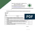e.p. 7.1.1.3...Pelaksanaan Monitoring Kepatuhan Terhadap Prosedur Pendaftaran
