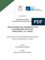 Indicadores Del Desarrollo de La Dimensión Afectivo-emocional (0-3 Años)