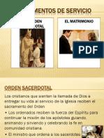 Sacramentos Matrimonio y Orden Sacerdotal