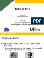Aula 04B - Algebra de Boole