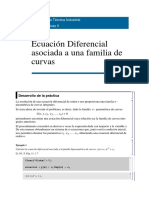 Ecuación Diferencial asociada a una familia de curvas CON MATHEMATICA