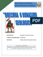 Vocabulario Quechua Geologico