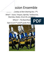 Percussion Ensemble Poster