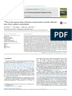 210 Po in the marine biota of Korean coastal waters and the effective dose from seafood consumption