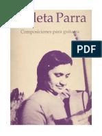 Parra, Violeta. Composiciones Para Guitarra