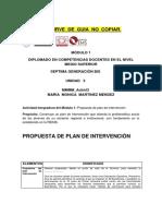Ejemplo de Plan d e Intervención-2014