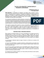 Programa Economico Gobierno Nacional del Ecuador