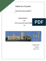 Operations Management Mini Pro