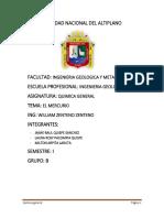 Universidad Nacional Del Altiplano Quimica