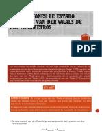 4.3 Ecuaciones de Estado Cúbica de Van Der Waals de Dos Parámetros