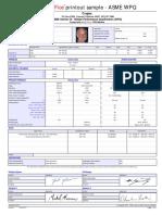 WPQ Sample Printout