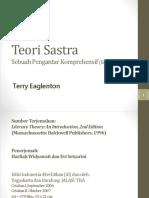Teori Sastra, Terry Eglenton