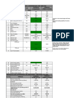 Comparison for 500 KVA(PERKINS)