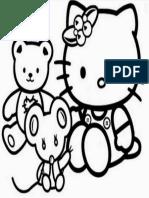 Mewarnai Gambar Hello Kitty 12