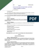 L Reglamento de La Ley de Trabajo Del Cirujano Dentista Ley 27878