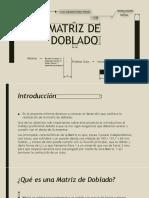Matriz de Doblado