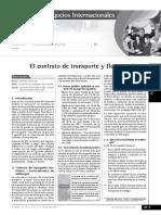 El Contrato de Transporte y Flete Marítimo