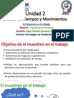 Unidad 2 - Tema 2.6 Muestreo en El Trabajo