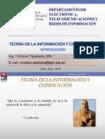 1 Teoría de La Información y Codificación - Introducción