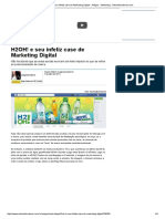 H2OH! e Seu Infeliz Case de Marketing Digital - Artigos - Marketing - Administradores